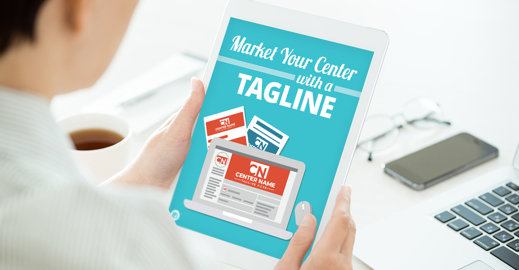 Resource 'Market Your Center with a Tagline' read on tablet