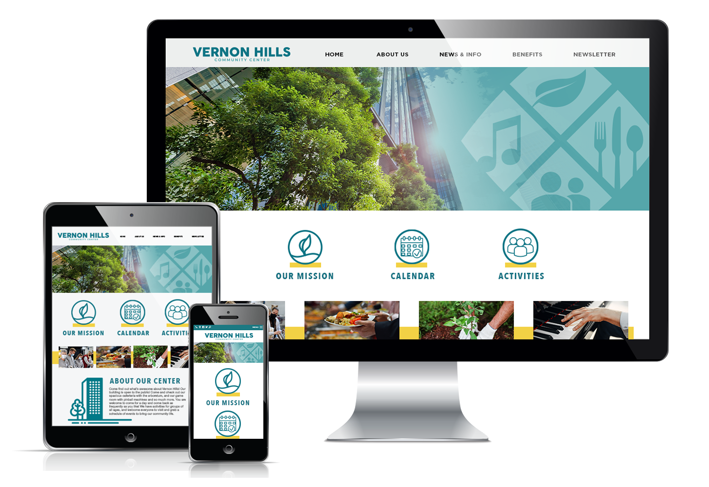 Responsive website display for Vernon Hills