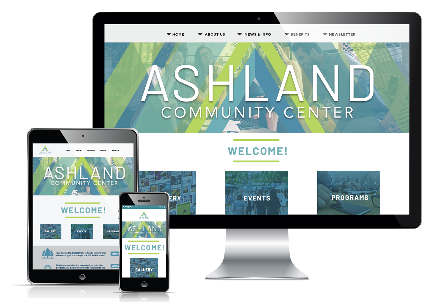 Responsive website display for Ashland
